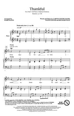 Thankful: Arr. (Mark Hayes): 2-Part Choir