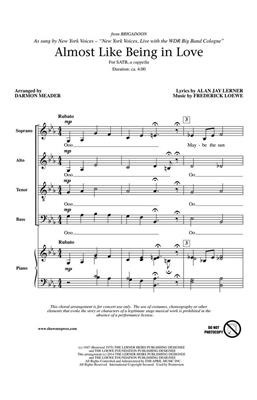 Lerner: Almost Like Being in Love: Mixed Choir