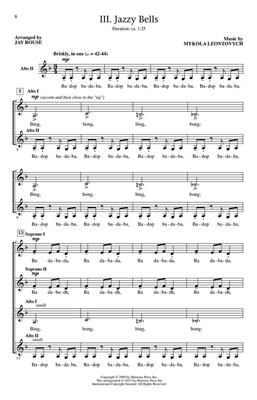 Three Jazzy Bell Carols: Arr. (Jay Rouse): SSAA