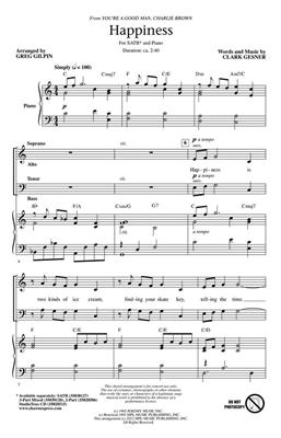 Clark Gesner: Happiness: Mixed Choir