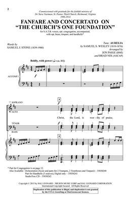 Samuel Sebastian Wesley: Fanfare & Concertato on The Church's Foundation: Arr. (Brad Nix): SATB