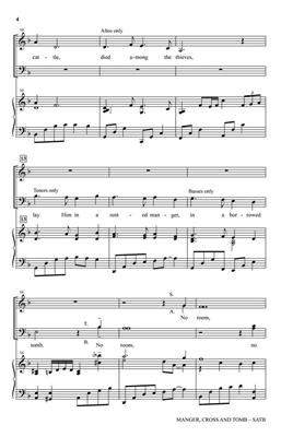 Victor C. Johnson: Manger, Cross and Tomb: SATB