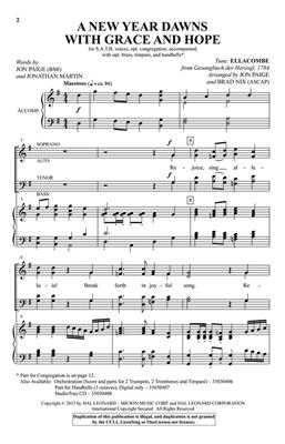 Samuel Sebastian Wesley: A New Year Dawns with Grace and Hope: Arr. (Brad Nix): SATB