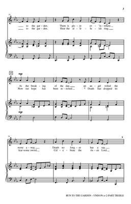 Brad Nix: Run to the Garden: Unison or 2-Part Choir