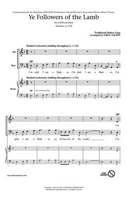 Greg Gilpin: Ye Followers of the Lamb: Mixed Choir