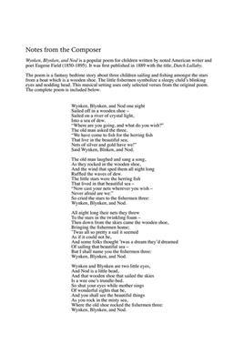 Greg Gilpin: Wynken, Blynken, and Nod: Mixed Choir