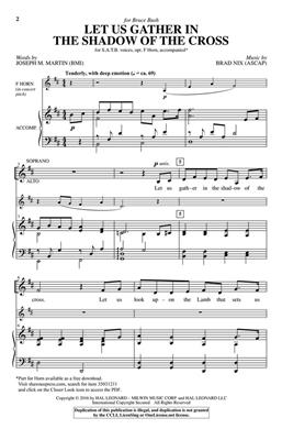 Joseph M. Martin: Let Us Gather in the Shadow of the Cross: SATB