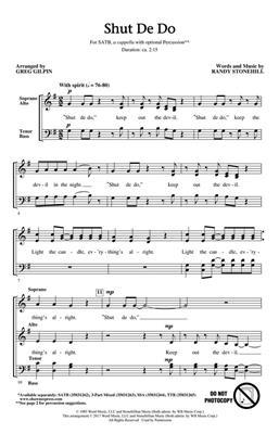 Greg Gilpin: Shut De Do: Mixed Choir