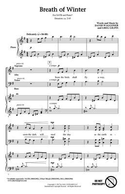 David Waggoner: Breath of Winter: Mixed Choir