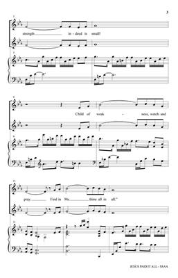 Jesus Paid It All: Arr. (Robert Sterling): SSAA