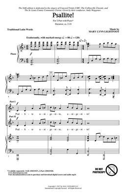 Mary Lynn Lightfoot: Psallite!: Mixed Choir