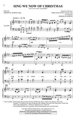 Sing We Now of Christmas: Arr. (Joseph M. Martin): SATB