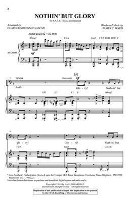 James C. Ward: Nothin' But Glory: Mixed Choir