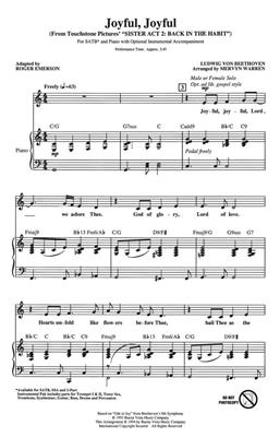 Ludwig van Beethoven: Joyful, Joyful: Arr. (Mervyn Warren): SATB