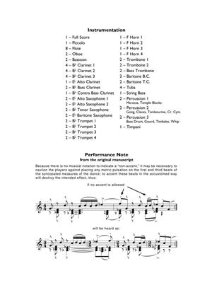 John Barnes Chance: Incantation and Dance: Concert Band