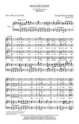 Georg Friedrich Händel: Hallelujah Chorus: SATB