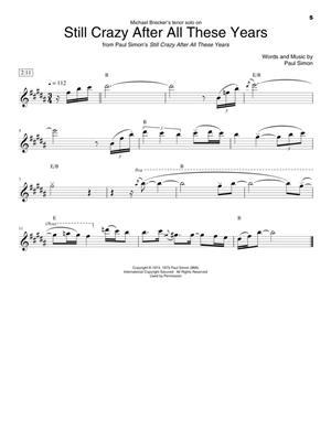 Famous Saxophone Solos: Saxophone