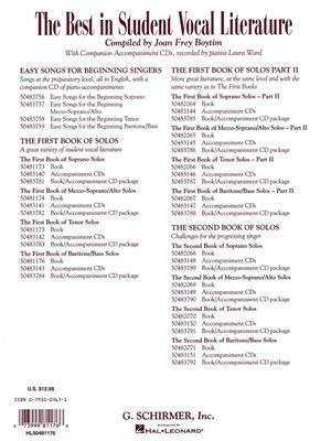 The First Book of Baritone/Bass Solos: Baritone Voice