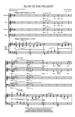 Kirke Mechem: Blow Ye the Trumpet: SATB