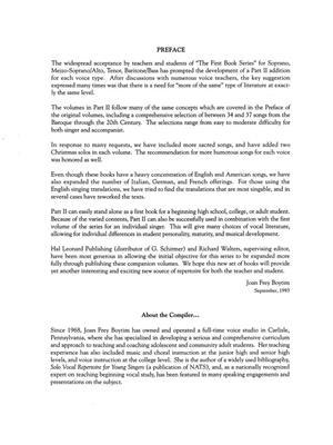 The First Book of Mezzo-Soprano/Alto Solos Part II: Mezzo-Soprano or Alto