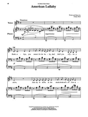 15 American Art Songs: Low Voice