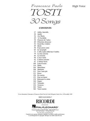 Francesco Paolo Tosti: Francesco Paolo Tosti - 30 Songs: Vocal