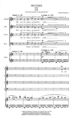 Robert Kapilow: Proverb: Mixed Choir