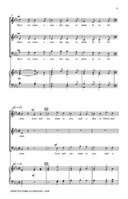 Traditional: Here We Come A-Caroling: Mixed Choir