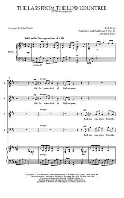 John Jacob Niles: The Lass from the Low Countree: Arr. (John Purifoy): SATB