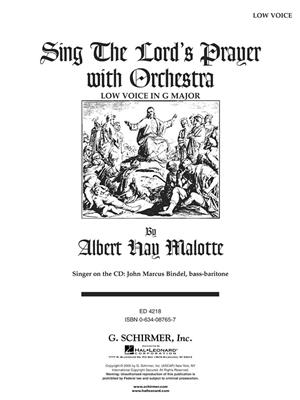 Albert Hay Malotte: The Lord's Prayer (Brass Quintet) - Score/Parts: Vocal