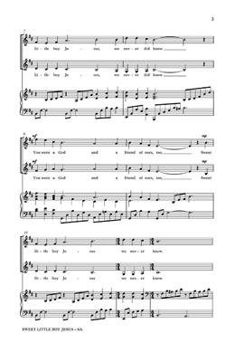 John Jacob Niles: Sweet Little Boy Jesus: Arr. (Benjamin Harlan): 2-Part Choir