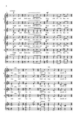 Aaron Jay Kernis: In Search Of Hope (Garden Of Light No.4): SATB
