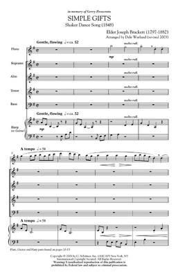 Shaker Dance Song: Simple Gifts: Arr. (Dale Warland): SATB
