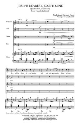 Cary Ratcliff: Joseph Dearest, Joseph Mine: Mixed Choir