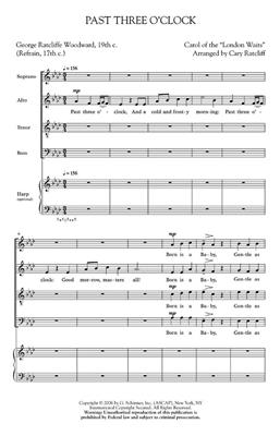 Past Three O'Clock: Arr. (Cary Ratcliff): SATB