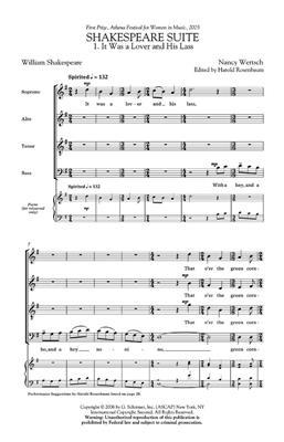 Nancy Wertsch: Shakespeare Suite: SATB