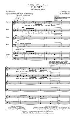 Jon Washburn: The Star (A Christmas Scene): Mixed Choir