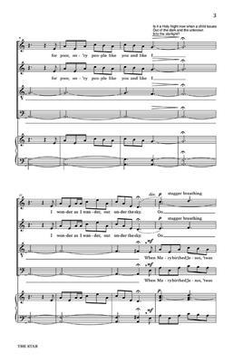 The Star (A Christmas Scene): Arr. (Jon Washburn): SATB