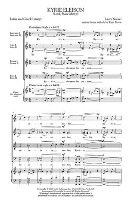 Larry Nickel: Kyrie Eleison (Lord, Have Mercy): SATB