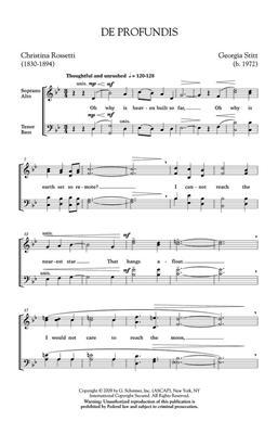 Georgia Stitt: De Profundis: Mixed Choir