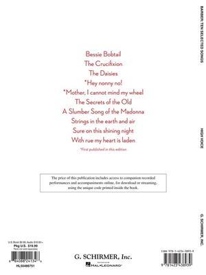 Samuel Barber: Ten Selected Songs - High Voice: High Voice