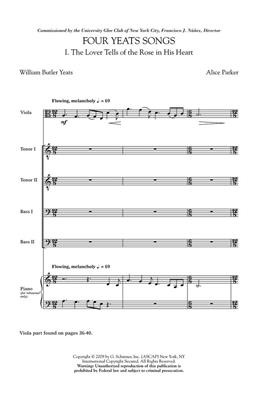 Alice Parker: Four Yeats Songs: TTBB