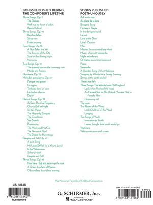 Samuel Barber: 65 Songs - High Voice: Voice