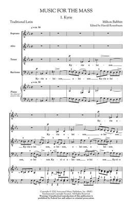 Milton Babbitt: Music for the Mass: SATB