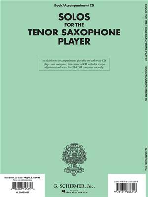 Solos for the Tenor Saxophone Player: Arr. (Larry Teal): Tenor Saxophone