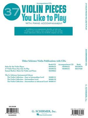 37 Violin Pieces You Like To Play: Violin