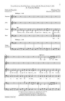 Shulamit Ran: Shirim L'Yom Tov - Four Festive Songs: Mixed Choir