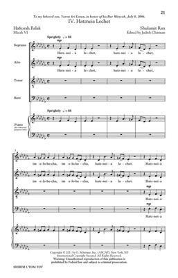 Shulamit Ran: Shirim L'Yom Tov - Four Festive Songs: SATB