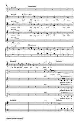 Kirke Mechem: Daybreak in Alabama: Women's Choir