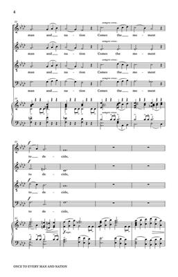 Once To Every Man And Nation: Arr. (Kirke Mechem): SATB